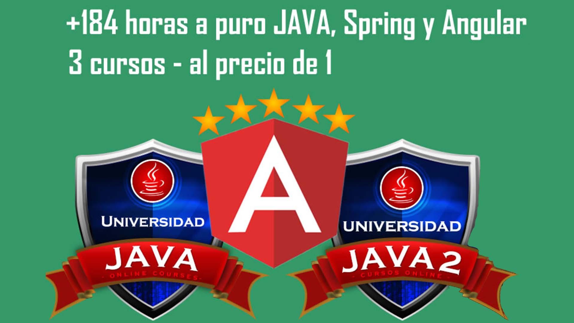 Oferta IToo: 3 Cursos en 1 (Universidad Java 1 y 2 más curso de programación en Angular) por menos de 9 dólares